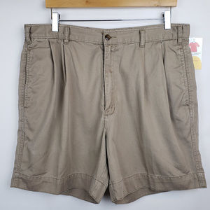 Dockers Mens Shorts Sz 36 Casual Pleat Front Khaki